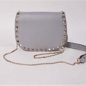 Valentino Rockstud Mini Saddle Crossbody Bag